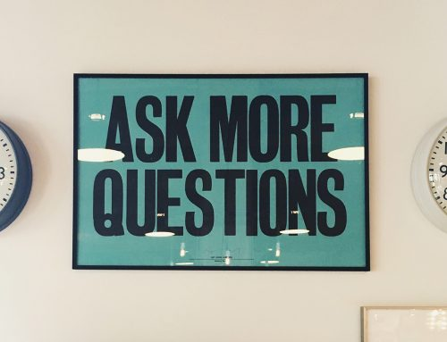 You don't know what you don't know – so how can you ask questions?