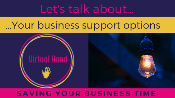 Lets talk saving your business time, Virtual Hand