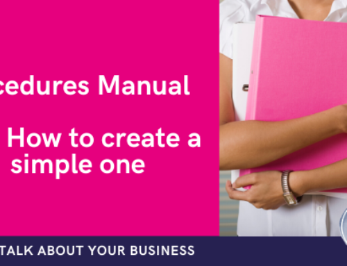 How to create a simple processes and procedures manual
