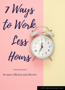 work less hours